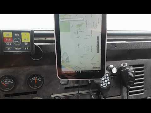Windows 10 Tablet car computer GPS Microsoft maps test