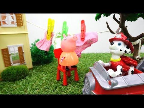 Детское видео и Свинка Пеппа НОВАЯ СЕРИЯ! Peppa Pig! Видео, как #ЩенячийПатруль спас Маму Свинку!