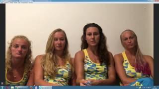 Сборная Украины по синхронному плаванию. Интервью о выступлении на Играх в Рио