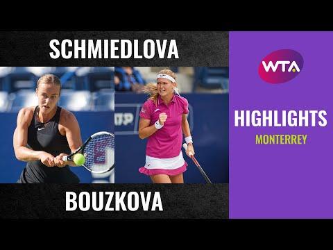 Anna Karolina Schmiedlova vs. Marie Bouzkova | 2020 Monterrey Second Round | WTA Highlights