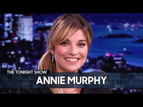 Annie Murphy Totally Embarrassed Herself the First Time She Met Jimmy | The Tonight Show