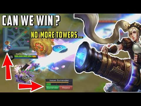 MOST INSANE COMEBACK EVER WITH LAYLA – NO TOWERS = LOSE ? - Mobile Legends