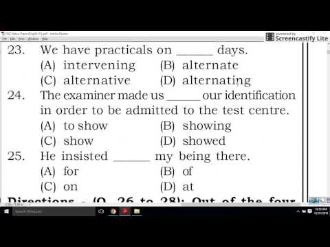 ENGLISH MOCK TEST - PRACTICE QUESTIONS - SSC / IBPS / SBI / PO