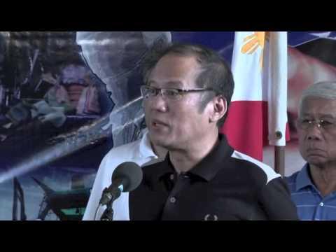 President Aquino press briefing before he left Zamboanga City
