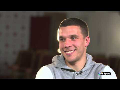 Arsenal's Lukas Podolski discusses his special sausage