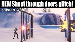 NEW Shoot Through Doors Glitch In Season 9 Fortnite! (How To Shoot Through Doors) (How To Win Scrim)