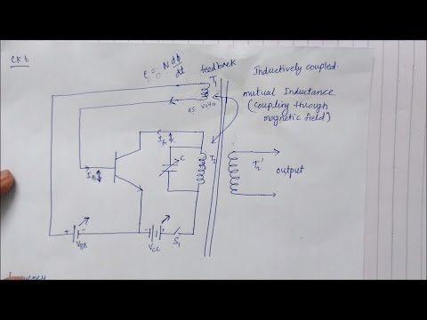 Transistor as an oscillator in Hindi