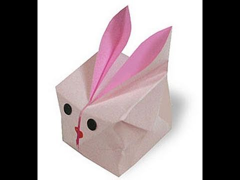 How To Make Cute Easy Inflatable Bunny Cube Origami Conejo De Grasa