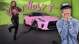 GIRLFRIEND WRAPPED MY GTR HOT PINK! **ANGER ALERT**