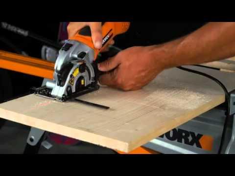 Sierra circular de mano worx wx424 esp youtube - Sierra electrica para madera ...