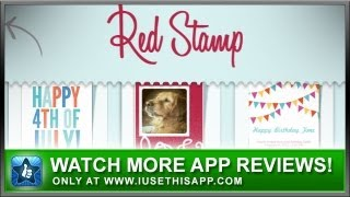 RedStamp Cards iPhone App Review - Greeting Card Apps - Social Apps