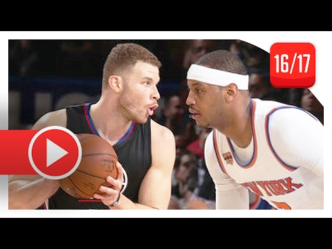 Blake Griffin vs Carmelo Anthony Duel Highlights (2017.02.08) Knicks vs Clippers - Future Teammates?