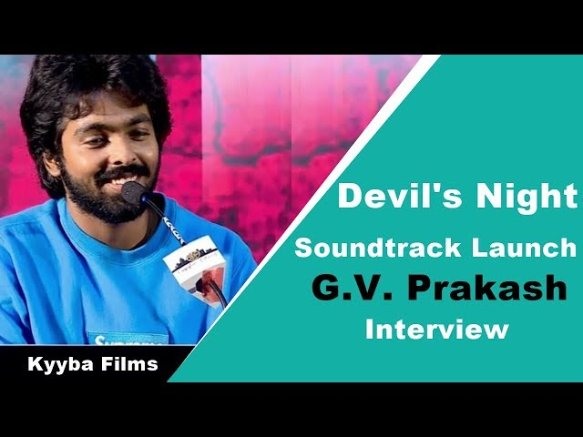 GV Prakash Interview | Devil's Night: Dawn of the Nain Rouge Soundtrack Launch