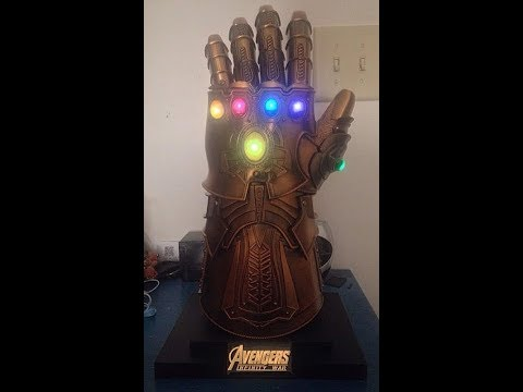 1:1 Wearable Cosplay Alloy Thanos Infinity Gauntlet Review!!!!!