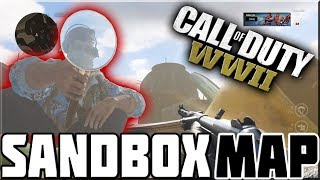 CRAZY NEW SANDBOX MAP ON CALL OF DUTY WWII!