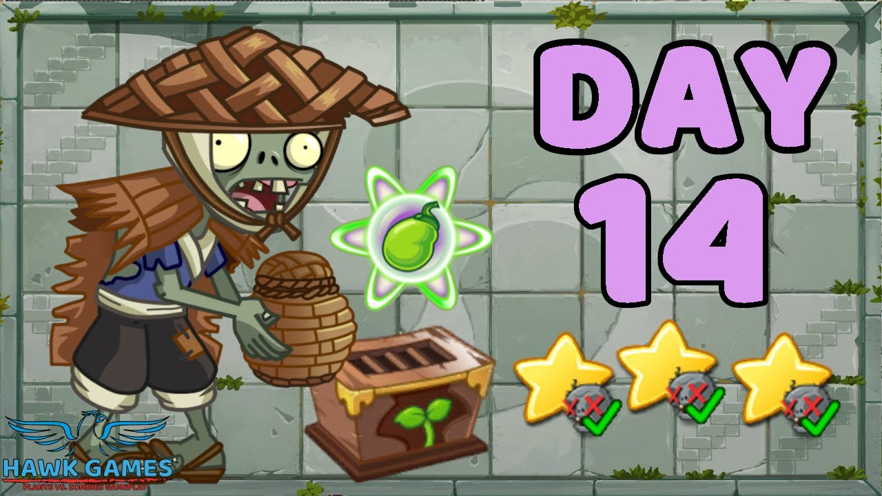 Plants vs Zombies 2 China - Heian Age Day 14《植物大战僵尸2》- 平安时代 14天
