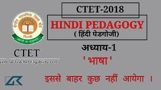 🔥CTET 2018, हिंदी पेडगोगी (शिक्षाशास्त्र)Ch-1 भाषा Hindi pedagogy ctet 2018,important notes,