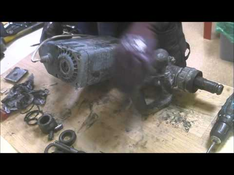 How to disassemble BOSCH GSH 11 E demolition hammer power tool burned field