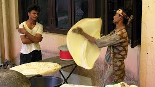 incredible Style of Making Rumali Roti
