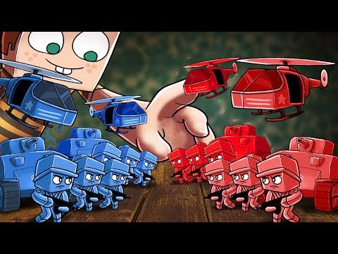 Minecraft | RED BASE VS BLUE BASE! (ARMY SOLDIER FORT WARS)