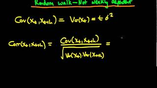 Random walk not weakly dependent