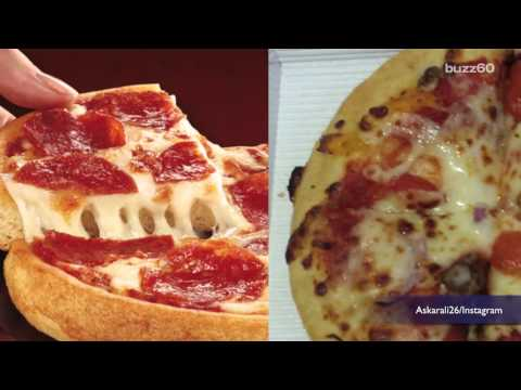 What fast food looks like in ads vs. real life