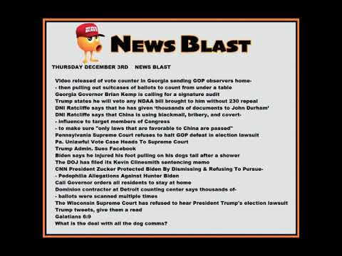 Thursday December 3,2020 News Blast. #NBR #NewsBlastReadings #Enoch