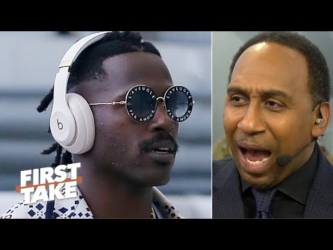Stephen A. reacts to Antonio Browns' tweets: Don't allow him back this season! | First Take 1
