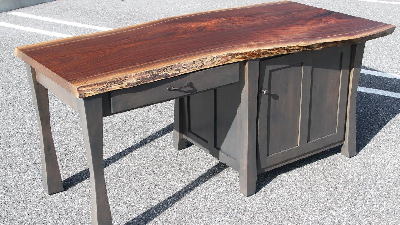 Walnut Live Edge Desk Country Lane Furniture