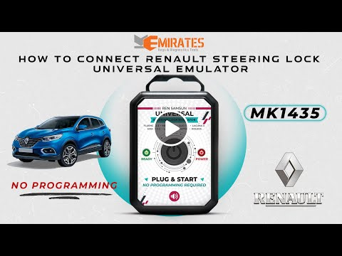 Renault Universal Steering Lock Emulator Plug And Start