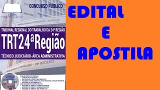 Edital Concurso TRT Campo Grande/MS 2017: Apostila Técnico Judiciário
