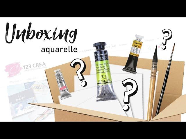 UNBOXING - Où trouver son matériel d'aquarelle et de loisirs créatifs ?