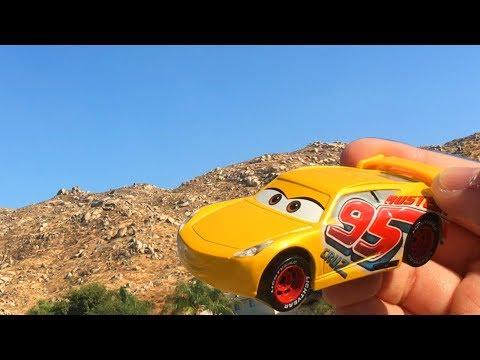 New Disney Cars 3 Toys at the Park - Rusteze Cruz Ramirez Toy Unboxing Family Fun Outdoor Playground
