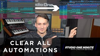 How to Clear All Automation #StudioOneMinute