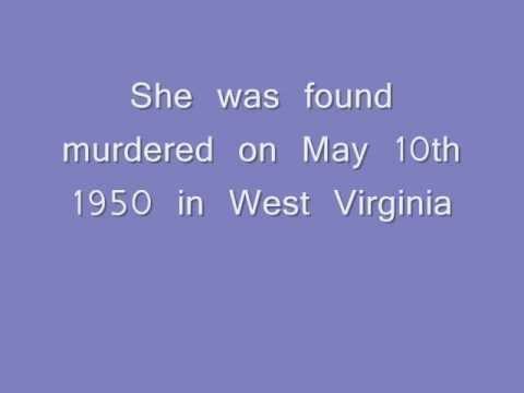 1950 West Virginia - Unidentified White Female ** photo of deceased **
