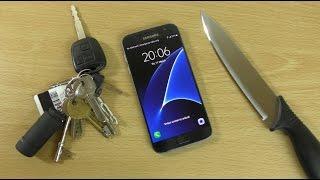 Samsung Galaxy S7 - Knife Scratch Test