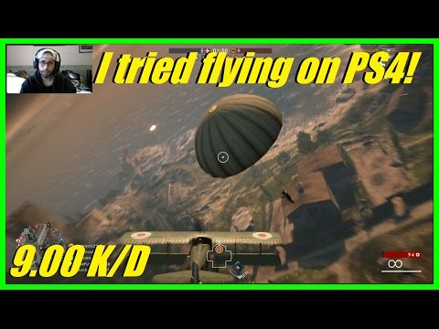Battlefield 1 - I tried flying on a PS4! | Spad S XIII Fighter (Trench variant) 60+ kills (9.00 K/D)