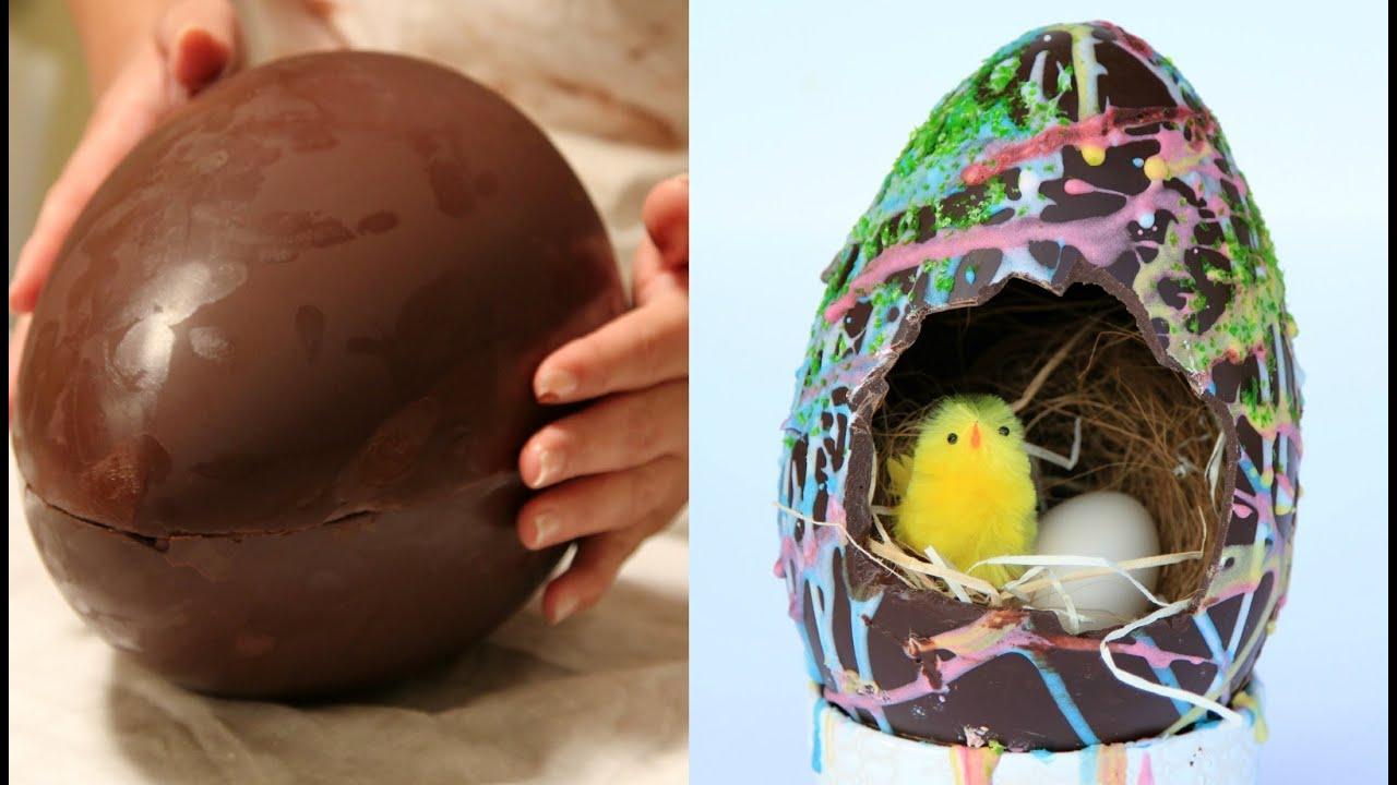 uovo di cioccolato per pasqua fatto in casa e temperaggio