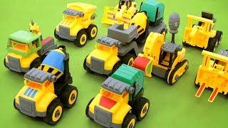 노란색 귀여운 어린이 건설 중장비가 나타났�...