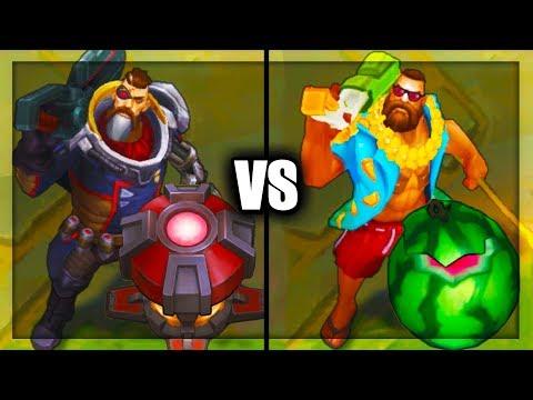 Dreadnova Gangplank vs Pool Party Gangplank Epic Skins Comparison (League of Legends)
