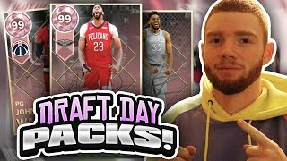 huge draft day pack opening three new pink diamonds nba 2k18 myteam