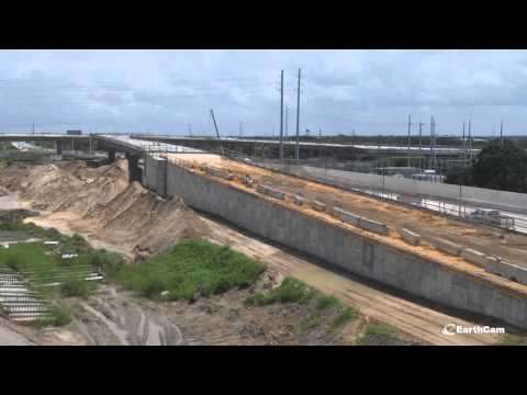 Florida DOT I-4 Connector Project Time-Lapse