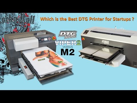 Which is the Best DTG Printer for Startups | Viper2 vs  M2 Live Demonstration