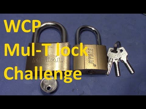 Взлом отмычками Mul-T-Lock    (picking 440) WCP Mul-T lock challenge - METAL and EUSAM padlock (by VDE)