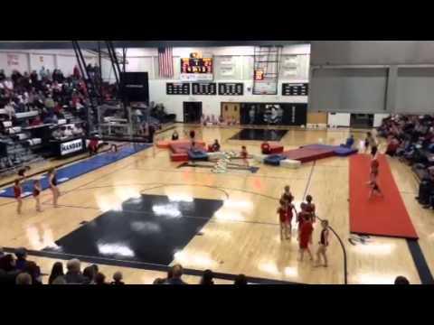 Dakota Star Gymnastics Showteam performance 2/4/14
