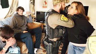 SOLIDER COMES HOME AND FINDS ANOTHER MAN WITH HER GIRL!