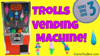 Dreamworks Trolls Series 3 Blind Bags Toy Vending Machine Surprises Names Toys Fun for Kids Play