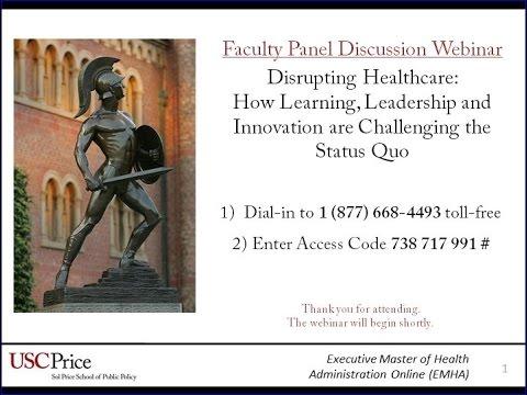 Disrupting Healthcare Webinar
