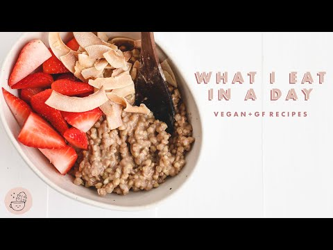 What I Eat in a Day While Staying Home �� Vegan + Gluten Free | Veggiekins
