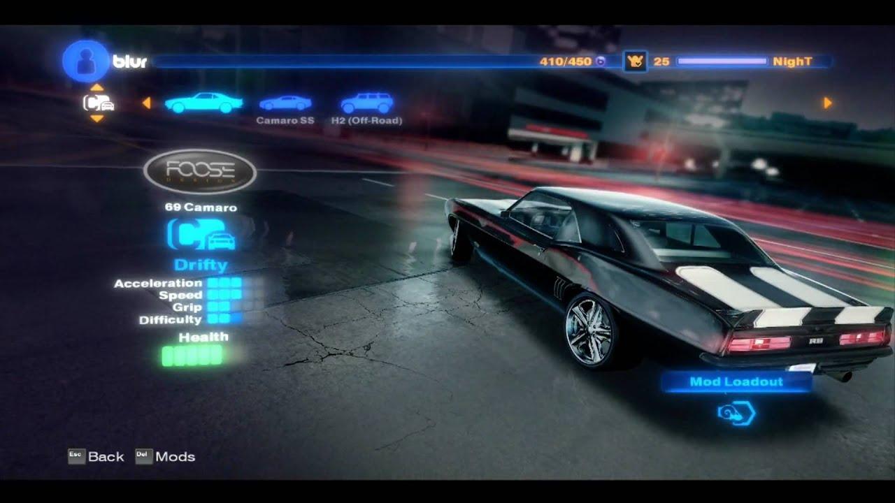 Grid Video Game Car List